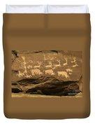 Utah Petroglyphs 1 Duvet Cover