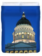 Utah State Capitol Building Dome At Sunset Duvet Cover