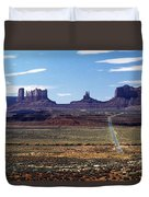 Utah, Usa Highway And Rock Formations Duvet Cover