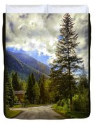 Vail Country Road 1 Duvet Cover