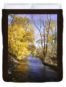 Valley Forge Creek In Autumn Duvet Cover