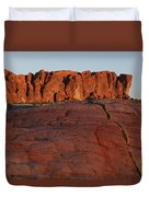Valley Of Fire Rockscape Duvet Cover