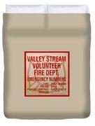 Valley Stream Fire Department Duvet Cover