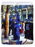 Van Gogh Is Captivated By A San Francisco Street Performer . 7d7246 Duvet Cover