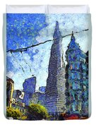 Van Gogh Sips Absinthe And Takes In The Views From North Beach In San Francisco . 7d7431 Duvet Cover