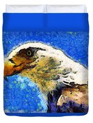 Van Gogh.s American Eagle Under A Starry Night . 40d6715 Duvet Cover