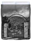 Vance Cemetery Black And White Duvet Cover