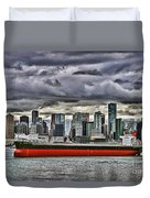 Vancouver Freighter Hdr Duvet Cover