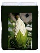 Vanilla Hibiscus Duvet Cover
