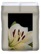Vanilla Lily Duvet Cover