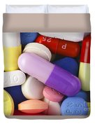 Variety Of Pills Duvet Cover