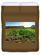 Vegetable Farm Duvet Cover by Carlos Caetano