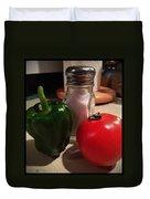 Veggies And Salt Duvet Cover