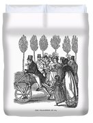 Velocipede, 1827 Duvet Cover
