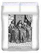 Venetian Women, C1600 Duvet Cover