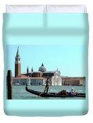 Venice From A Gandola Duvet Cover