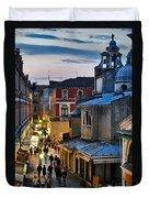 Venice From Ponte Di Rialto Duvet Cover