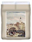 Venice: Rialto, 1833 Duvet Cover