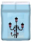 Venitian Lamp Posts Venice Italy Duvet Cover