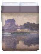 Vernon Church In Fog Duvet Cover by Claude Monet