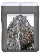 Vertical Sedimentary Strata Duvet Cover