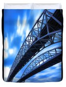 Very Blue Water Bridge  Duvet Cover