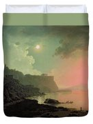 Vesuvius From Posillipo Duvet Cover by Joseph Wright of Derby