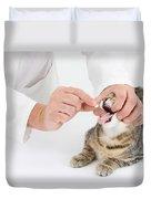 Vet And Kitten Duvet Cover