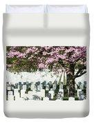 Veterans National Cemetery Duvet Cover