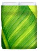 Vibrant Green Leaf Duvet Cover