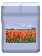 Vibrant Orange Spring Duvet Cover