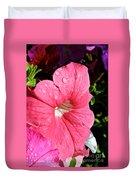 Vibrant Petunias Duvet Cover