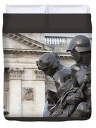 Victoria Memorial Fountain Duvet Cover