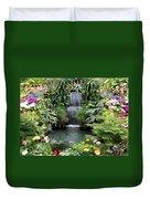 Victorian Garden Waterfall - Digital Art Duvet Cover