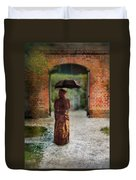 Victorian Lady By Brick Archway Duvet Cover