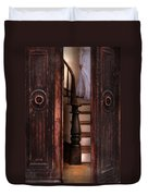 Victorian Lady Descending Stairs Duvet Cover