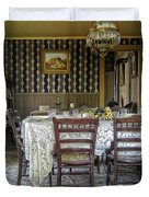 Victorian Sedman Home Dining Room - Nevada City Montana Duvet Cover