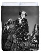 Victorian Woman With Furs C. 1853 Duvet Cover