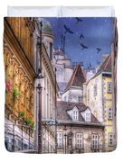 Vienna Cobblestone Alleys And Forgotten Streets Duvet Cover