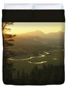 View At Dawn Of The Tuolumne River Duvet Cover