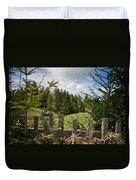 View From Picket Fence Duvet Cover