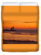 View From Shore Duvet Cover