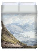 View From Skiddaw Over Derwentwater  Duvet Cover