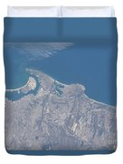 View From Space Of San Diego Duvet Cover