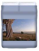 View From Table Bluff Duvet Cover