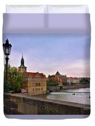 View From The Charles Bridge Revisited Duvet Cover