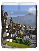 View From The Parador Nerja Duvet Cover