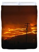 View Of A Forest Fire Near Boise, Idaho Duvet Cover