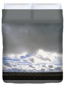 View Of A Train Carrying Coal Duvet Cover