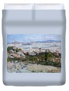 View Of Athens From Acropolis Duvet Cover